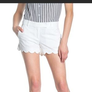 NWT J CREW FACTORY white scallop shorts